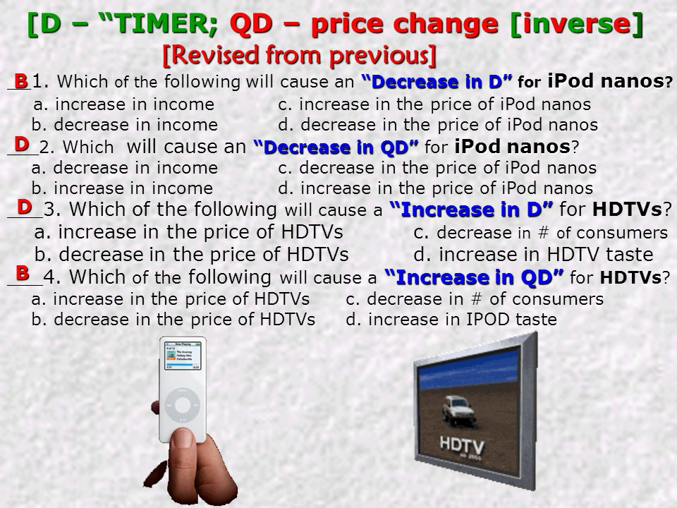 [D – TIMER; QD – price change [inverse] [Revised from previous]